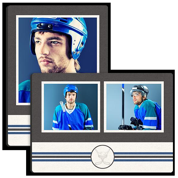 Hockey Stripes Tabletop Tabletop Panel