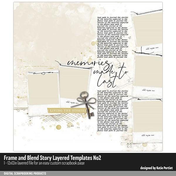 Frame and Blend Story Layered Templates 02 Digital Art - Digital Scrapbooking Kits