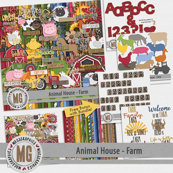 Animal House - Farm Bundle Digital Art - Digital Scrapbooking Kits