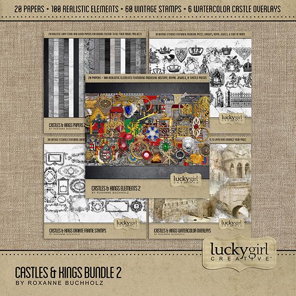 Castles & Kings Bundle 2 Digital Art - Digital Scrapbooking Kits