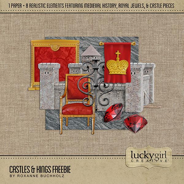 Castles & Kings Freebie Digital Art - Digital Scrapbooking Kits