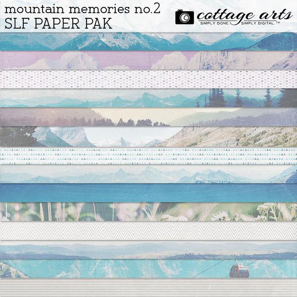 Mountain Memories 2 SLF Paper Pak Digital Art - Digital Scrapbooking Kits