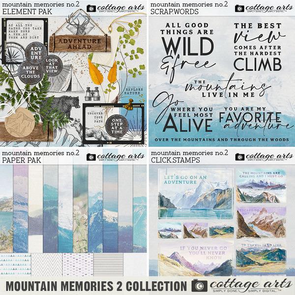 Mountain Memories 2 Collection Digital Art - Digital Scrapbooking Kits