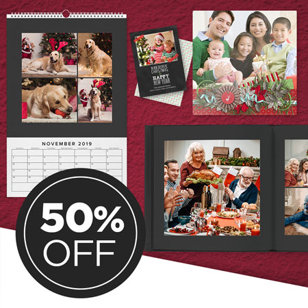 Save 50% on all printed products!