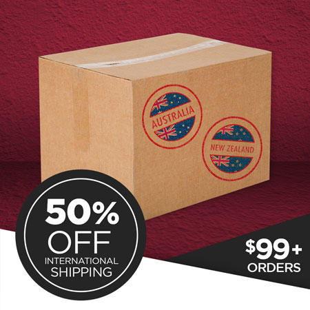 50% OFF International Shipping on Print Shop orders over $99!