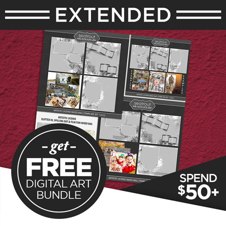 PLUS, get a free bundle valued at $20 when you spend over $50 on Digital Art!