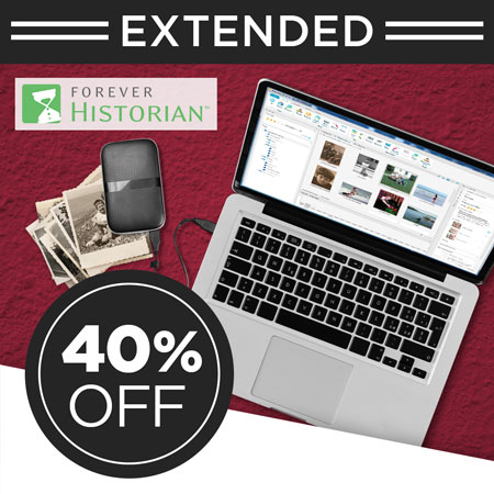 Save 40% on FOREVER Historian™ software!