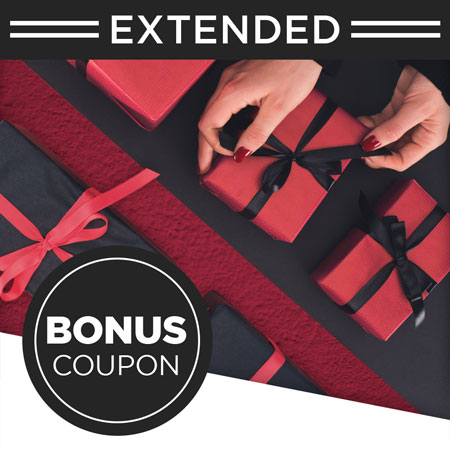 $100 or $200 gift certificate purchase includes a Bonus Coupon!