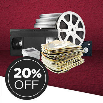 Return your media conversion box to save 20% on ALL item conversion!