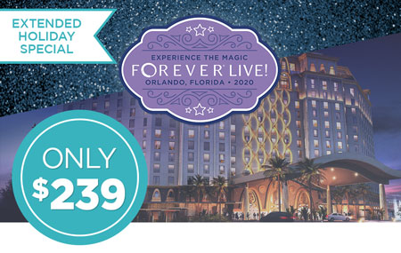 Get your FOREVER Live 2020 Convention ticket for just $239!