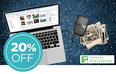 Save 20% on FOREVER Historian™ software!