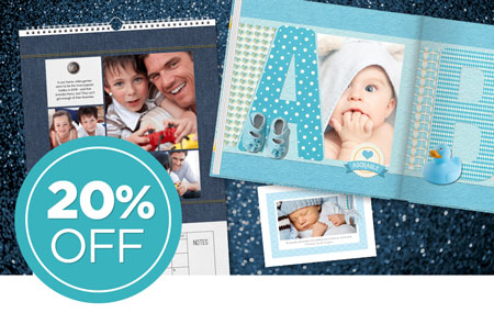 Save 20% on all printed products, including photo prints!