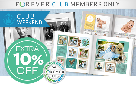 Club Members: Save an EXTRA 10% on photo books!