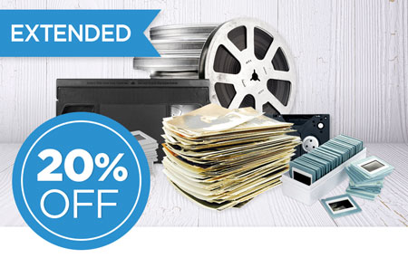 EXTENDED: Return your media conversion box to save 20% on ALL item conversion!