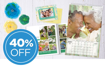 Save 40% on printed products!