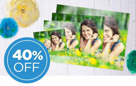 Save 40% on photo prints!