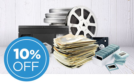 Buy and return your media conversion box to save an extra 10% on ALL item conversion!