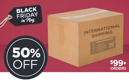 50% OFF International Shipping on Print Shop orders over $99 USD!