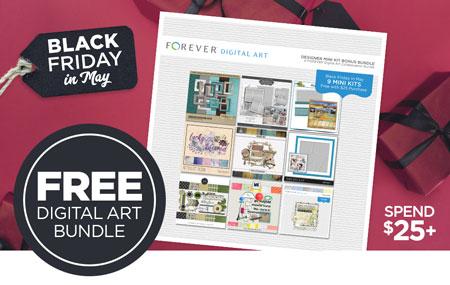 Get our Designer Mini Kit Bonus Bundle (valued at $46) FREE when you spend $25+ on Digital Art!