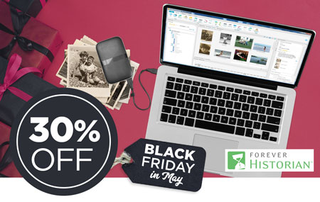 Save 30% on FOREVER Historian™ software!