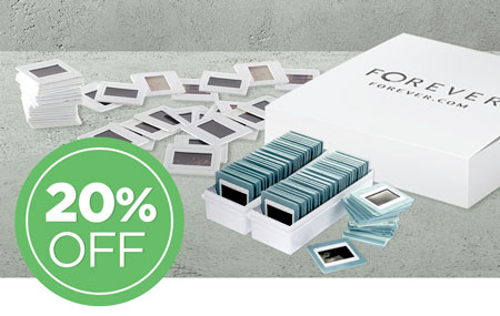 Return your media conversion box to save 20% on all slide conversion!