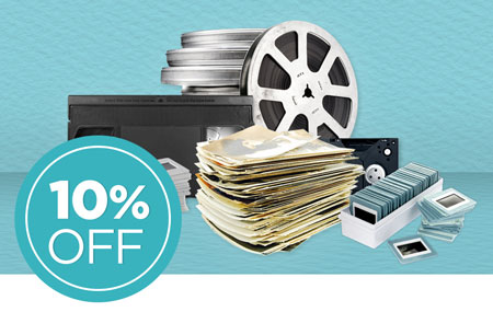 Return your media conversion box to save an extra 10% on ALL item conversion!