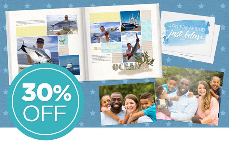 Save 30% on printed products, INCLUDING photo prints!