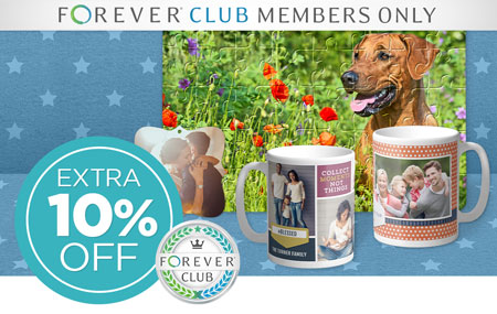 Club Members: Save an EXTRA 10% on photo gifts!