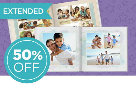 Save 50% on ANY photo books!