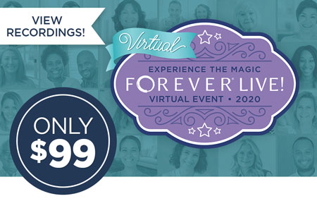 Missed FOREVER Live!? It's not too late to purchase a ticket and view all event recordings!