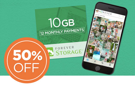 Save 50% on 10GB FOREVER Storage® payment plans! Great for New Clients!