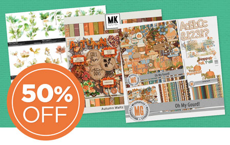 Save 50% on our International Digital Scrapbooking Day Designer Collaboration 2020 Selections!