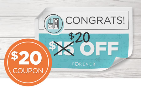 Get $20 off every time you invite a friend to join FOREVER!