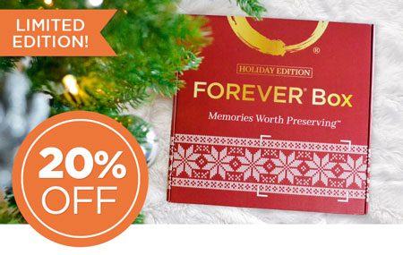 Save 20% on a FOREVER® Box Holiday Edition! Give the perfect gift this year.