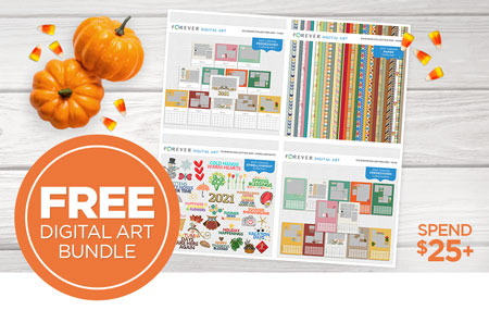 Get our special Calendar Bundle FREE when you spend $25+ on Digital Art!