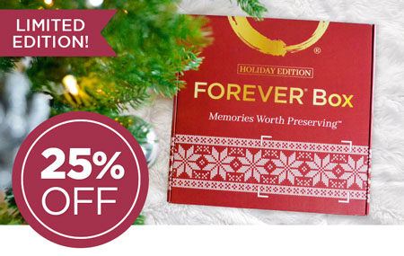 Save 25% on a FOREVER® Box Holiday Edition! Give the perfect gift this year.