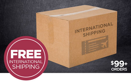 FREE International Shipping on Print Shop orders over $99 USD!