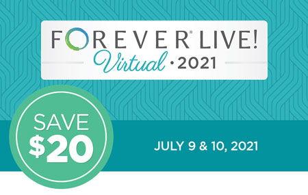 Get your FOREVER Live! Virtual event ticket for just $69 (client access) or $99 (expanded Ambassador access)!