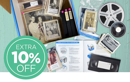 Time to Pack Your Box! Return your FOREVER® Box by March 1 to get an extra 10% off all item digitization!