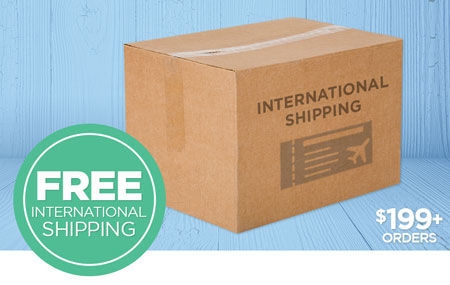 FREE International Shipping on Print Shop orders over $199 USD!