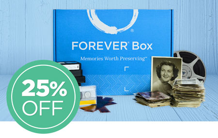 Save 25% on any size FOREVER® Box!