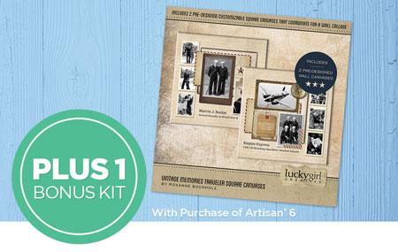 Get 15 exclusive kits ($111 value) PLUS 1 heritage bonus kit ($10 value) FREE with your Artisan 6® purchase!