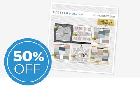 Save 50% on our April Seamless Layflat Collector's Edition Digital Art Bundle!