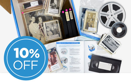 Have a FOREVER Box? Send it back to us to save 10% on all item digitization!