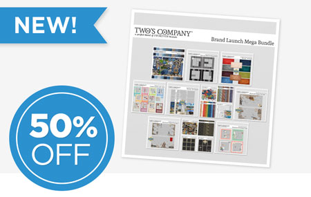 """Save 50% on our NEW """"Two's Company"""" Brand Launch Mega Bundle!"""