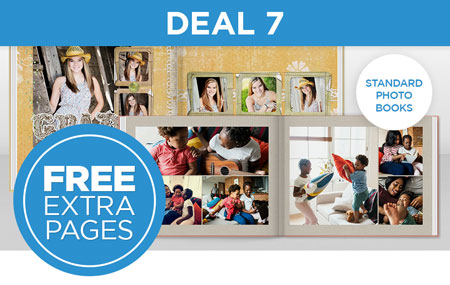 Score FREE EXTRA PAGES on any Standard Photo Book!