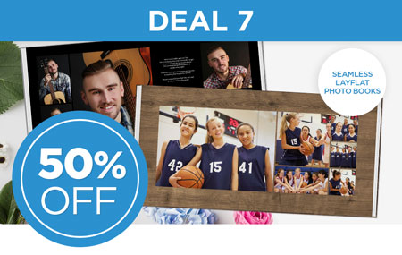 Save 50% on Seamless Layflat Photo Books in FOREVER Artisan, AutoBook, and Design & Print!