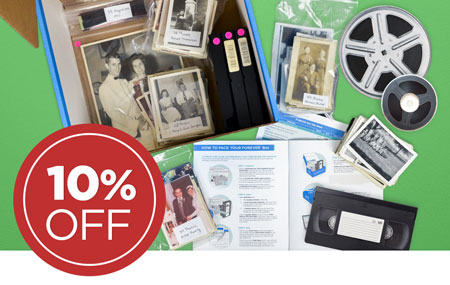 Have a FOREVER Box purchased before May 11? Send it back to us to save 10% on all item digitization!