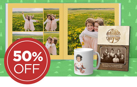 Save 50% on printed products!