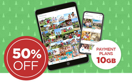 Save 50% on 10GB FOREVER® permanent cloud storage payment plans!